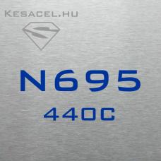 N695 (440C) 4x40x500mm